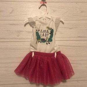 "Cat and Jack ""Little Lady"" Matching Onesie & Tutu"